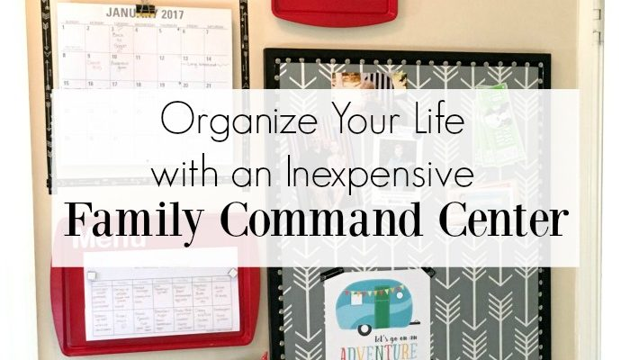 Stay ORGANIZED for the New Year with a Family Command Center! Perfect budget friendly command center for space spaces. Made from Dollar Store supplies!