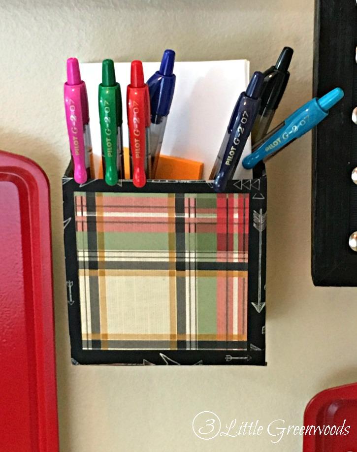DIY Pen Holder for Family Command Center