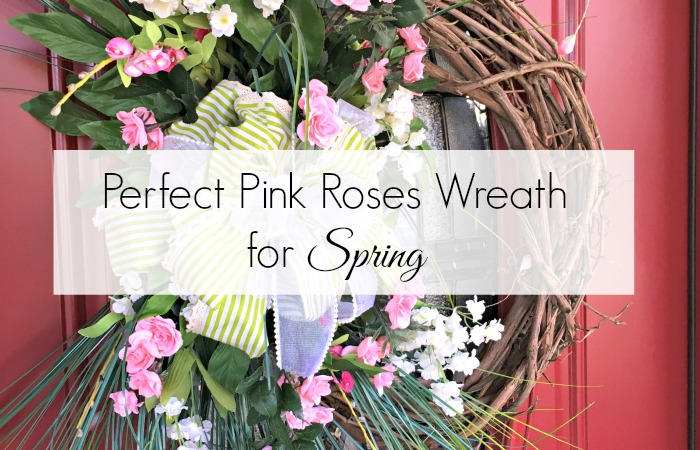 Perfectly Pink Roses Wreath for Spring