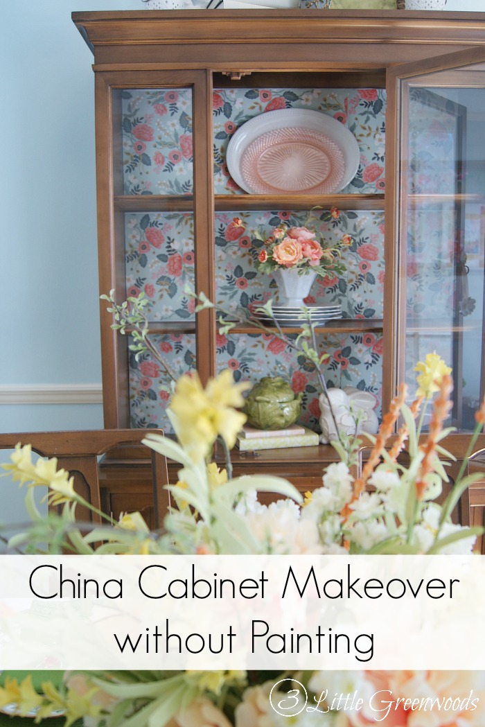 You Donu0027t Have To Paint That Family Heirloom! Hereu0027s A China Cabinet  Makeover