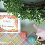 Spring Mantel Decorating Ideas with the Color Coral