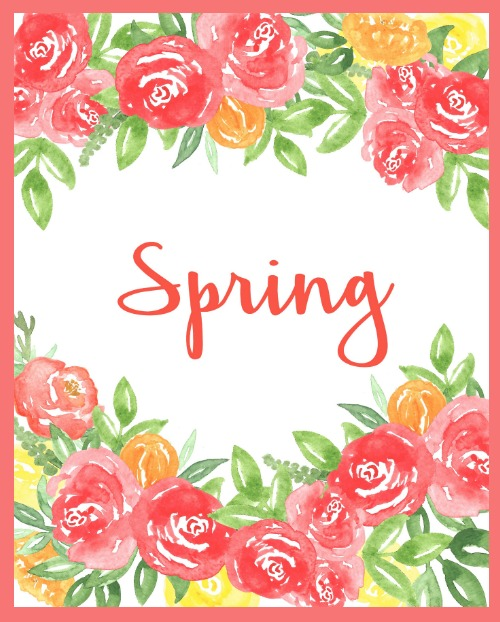 FREE Spring Printable with Coral Peonies - Spring Decor Idea
