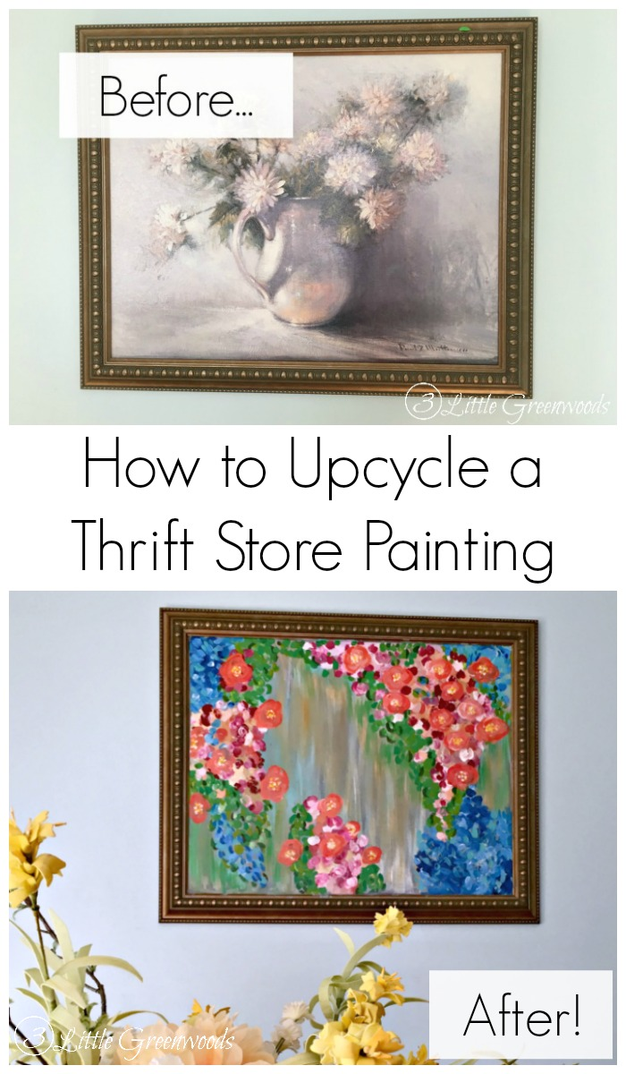 Got a small budget? Here's How to Upcycle a Thrift Store Painting!