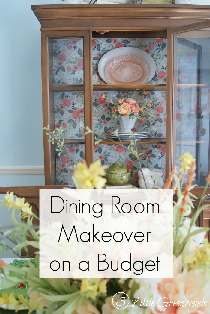 Must see Dining Room Makeover Ideas on a Budget - Here are some tips for decorating a dining room on a budget and a coral and green tablescape idea.