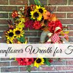 DIY Sunflower Fall Wreath