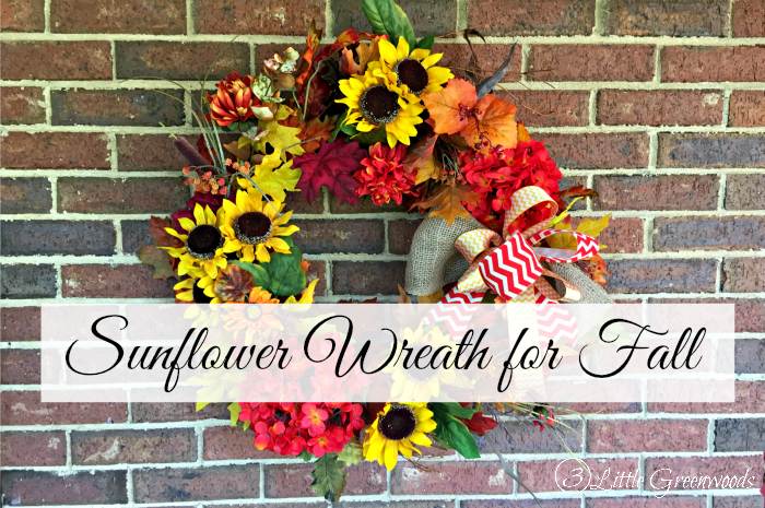 DIY Sunflower Fall Wreath