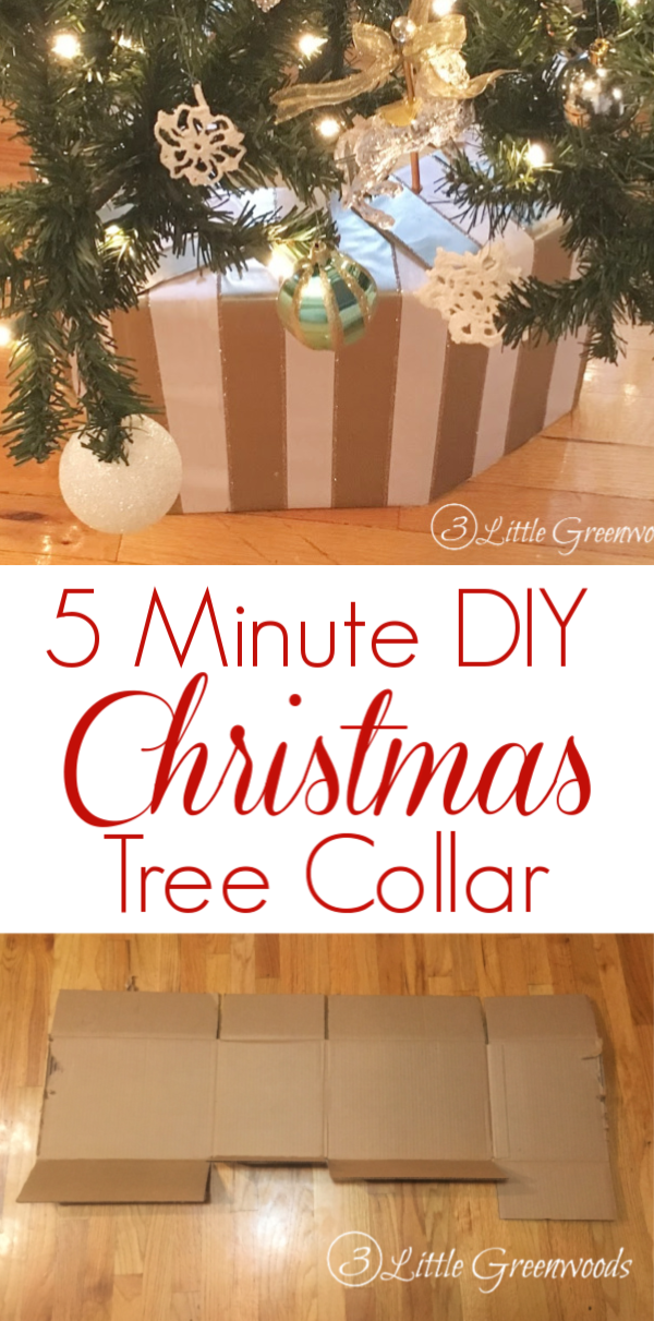 Want a classy tree collar? But don't want to spend a fortune? Make your DIY Christmas Tree Collar in less than 5 minutes with this simple tutorial!