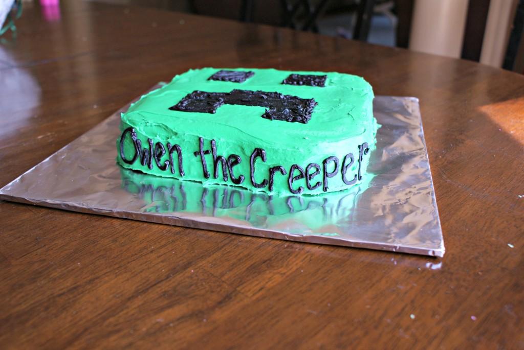 easy minecraft cake