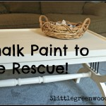 Homemade chalk paint to the rescue!