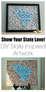 MUST PIN Love Your State Artwork Project! Show your home state love with this simple DIY painting project to create State Art for your home! South Carolina State Artwork // 3 Little Greenwoods