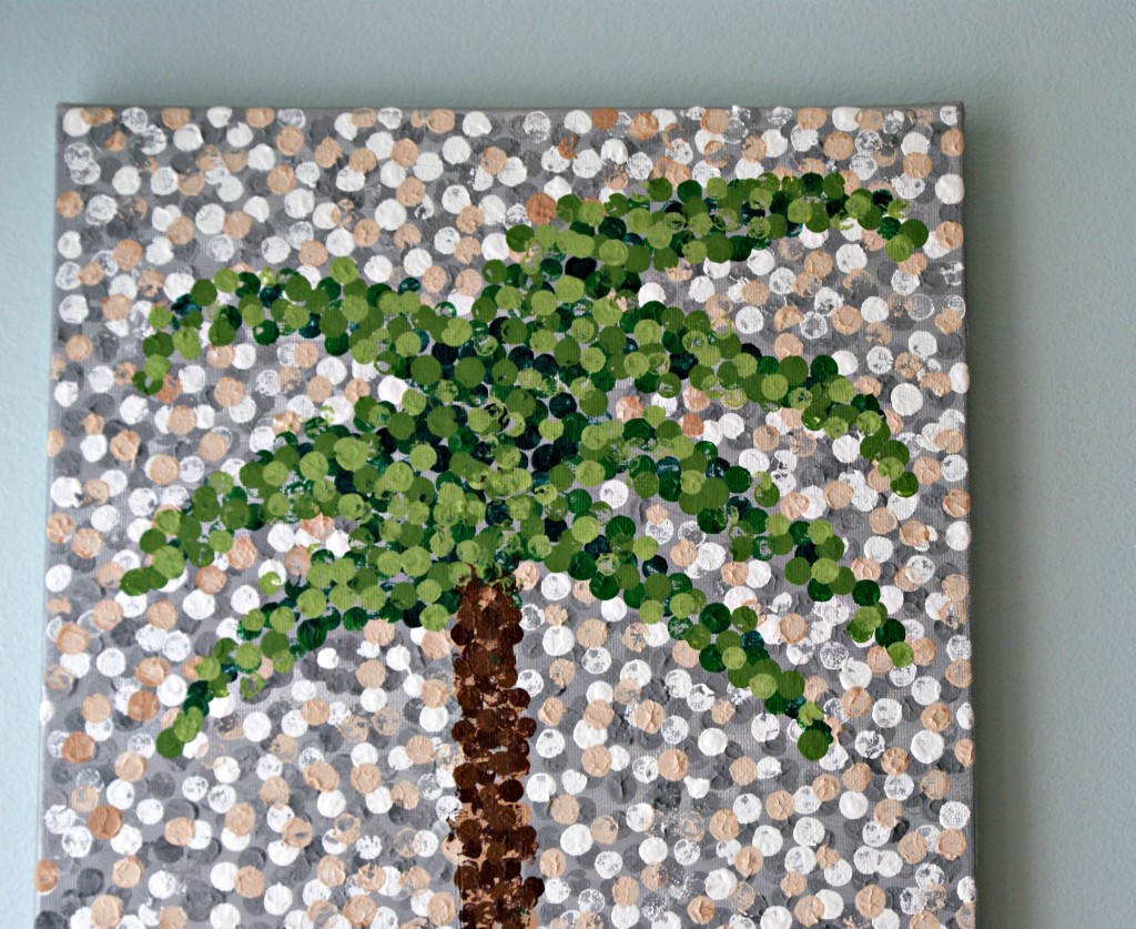Palmetto Tree {Pointillism Artwork} by 3 Little Greenwoods
