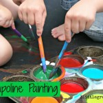Summer Activities for Kids: Trampoline Painting!