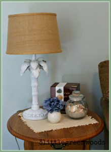 A beachy vignette @ 3littlegreenwoods