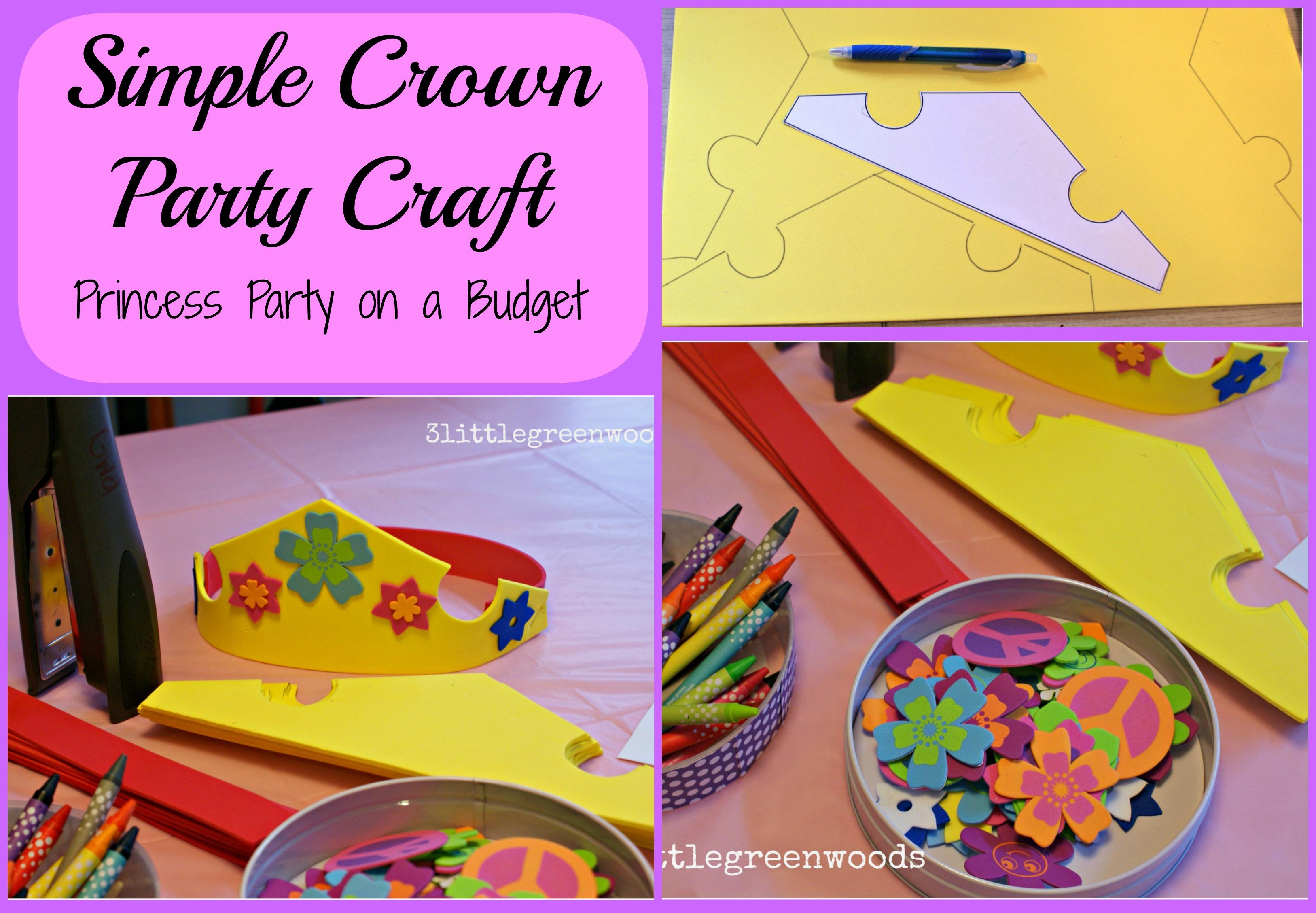 Simple Princess Party Favors
