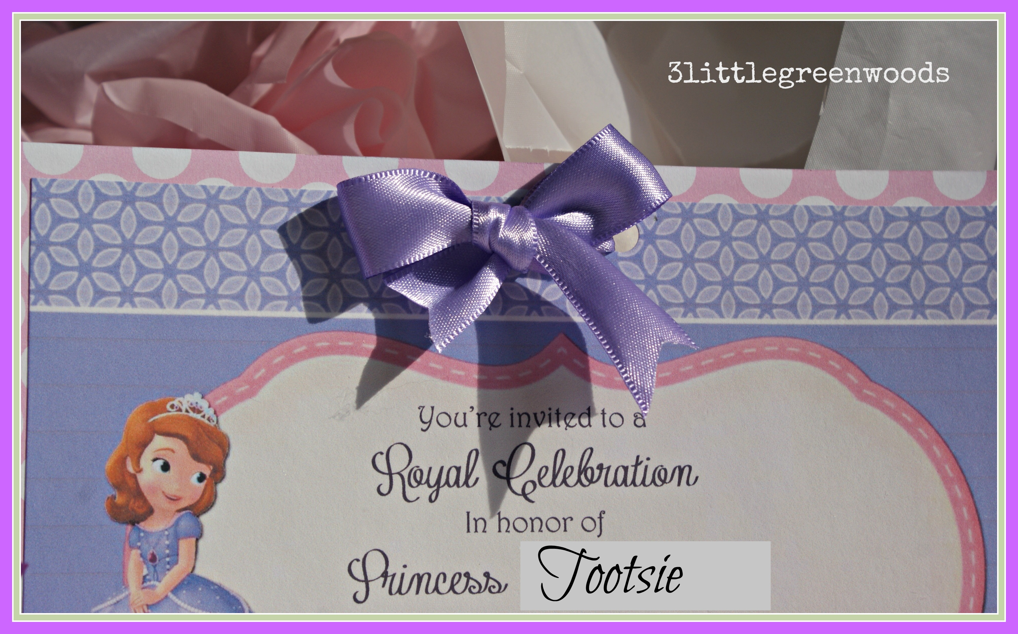 Sofia The First Party Invitations Princess On A Budget 3littlegreenwoods