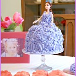 DIY Princess Cake for a Sofia the First Birthday Party
