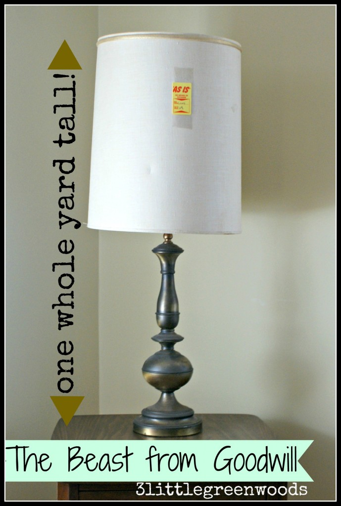 The Beast from Goodwill (a lamp makeover) @ 3littlegreenwoods