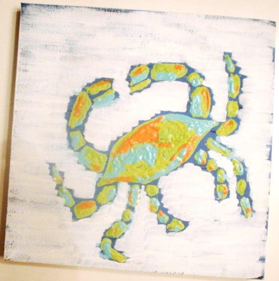 Etsy shop: Coconut Beech Etsy blue crab