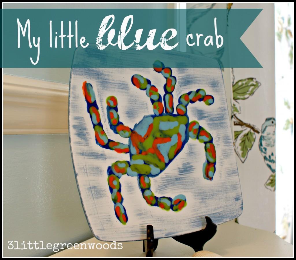 My little blue crab @ 3littlegreenwoods.com