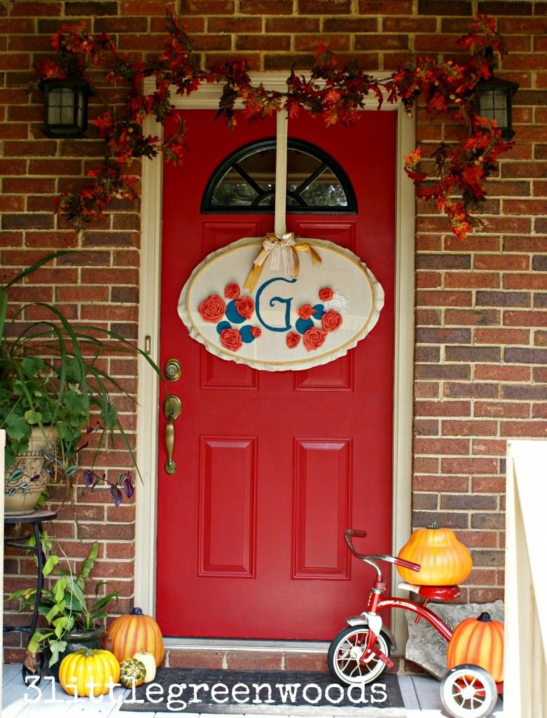 Fall Monogram Wreath @ 3littlegreenwoods
