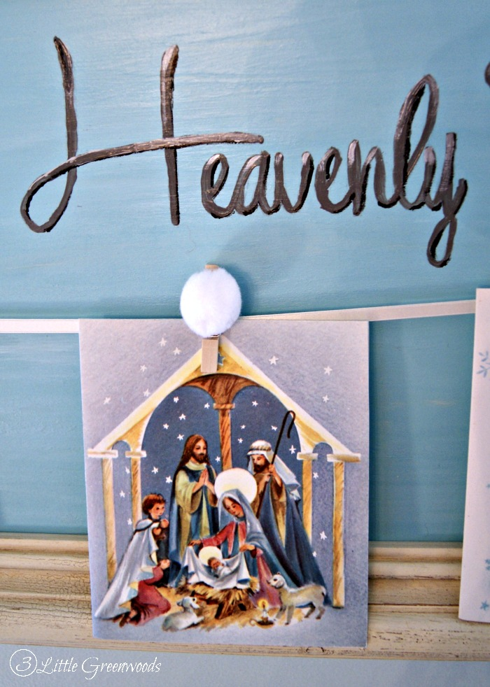 DIY Christmas Card Display by 3 Little Greenwoods