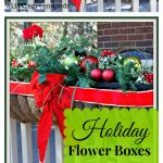Cheery Christmas Flower Boxes for Outdoor Christmas Decorations