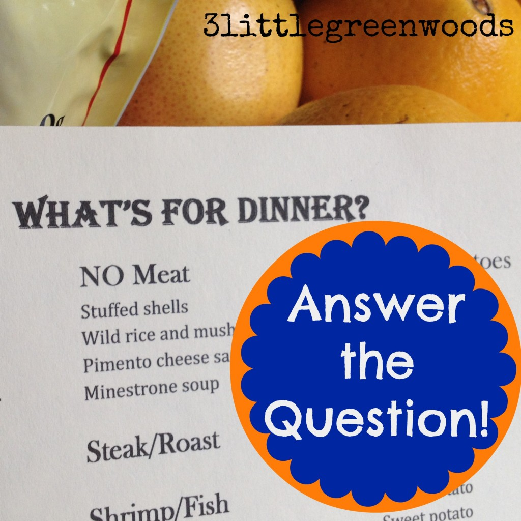 What's for dinner? @ 3littlegreenwoods