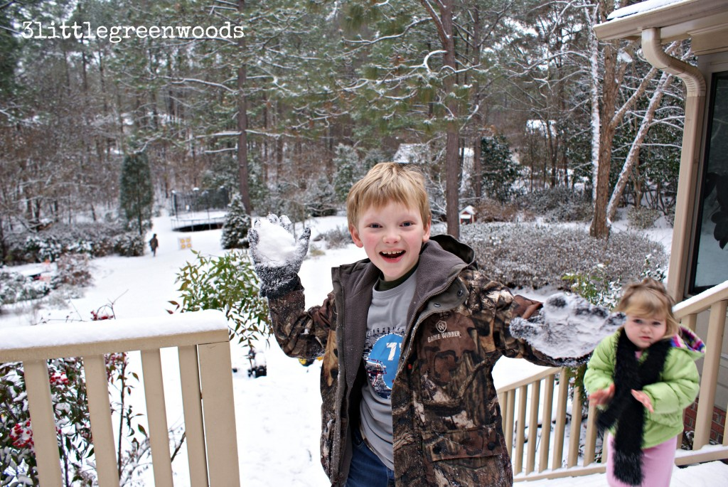 A Southern Snow Day with 3littlegreenwoods