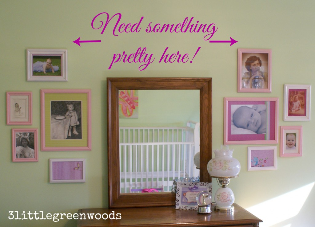 Gallery Wall Girl's Room @ 3littlegreenwoods