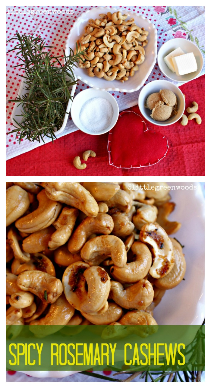 Best nuts I've ever had! LOVE these Spicy Rosemary Cashews. Such an easy snack idea! // 3 Little Greenwoods