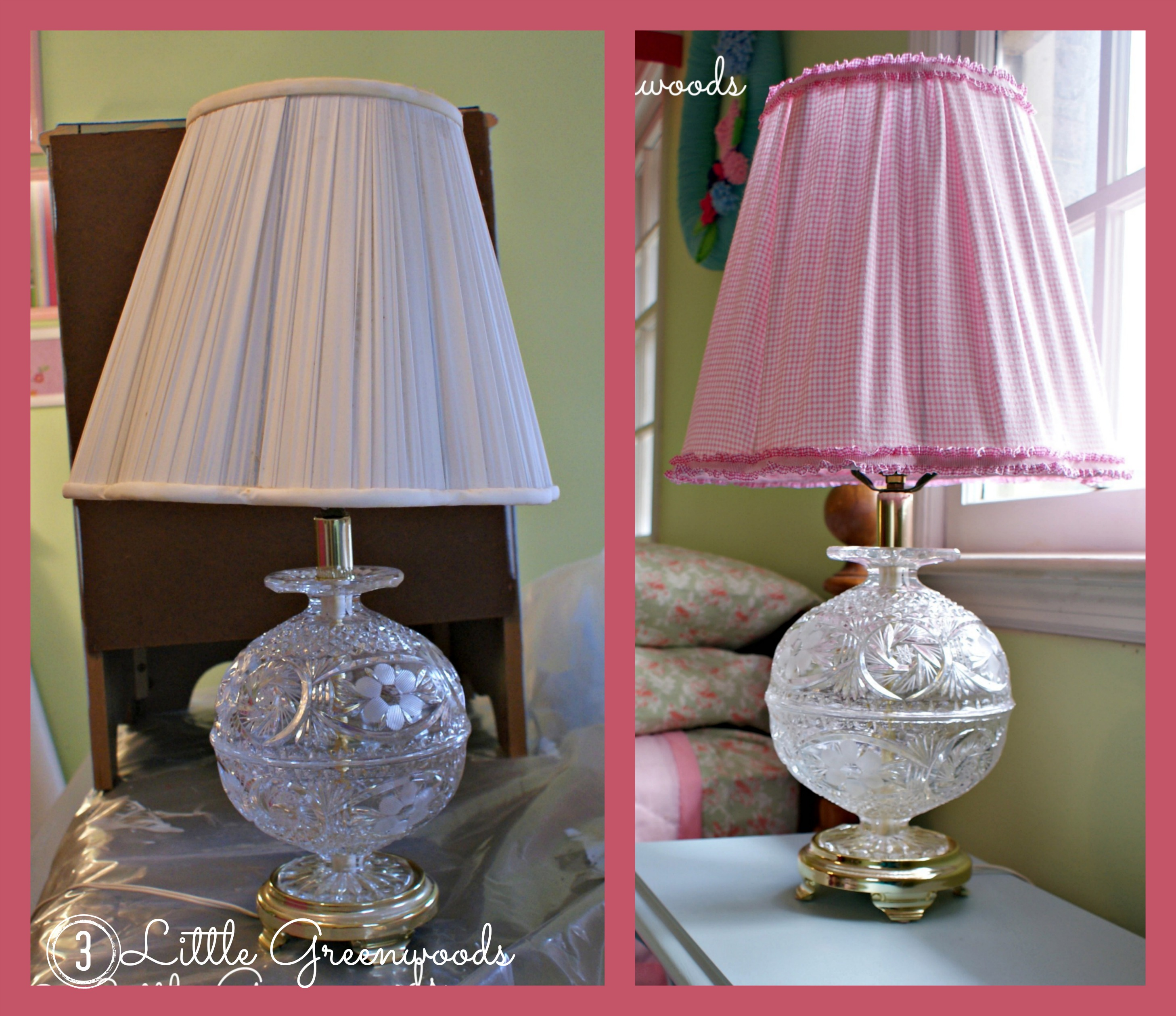 Diy Lampshade Makeover 3 Little Greenwoods