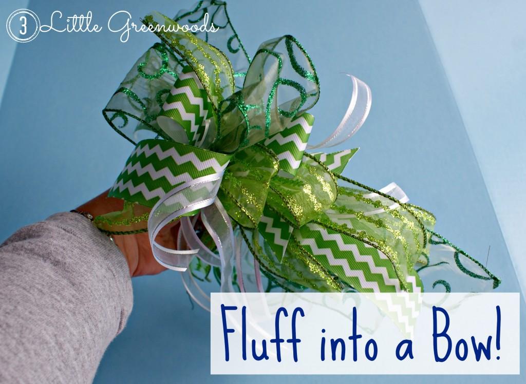 DIY wreath bow