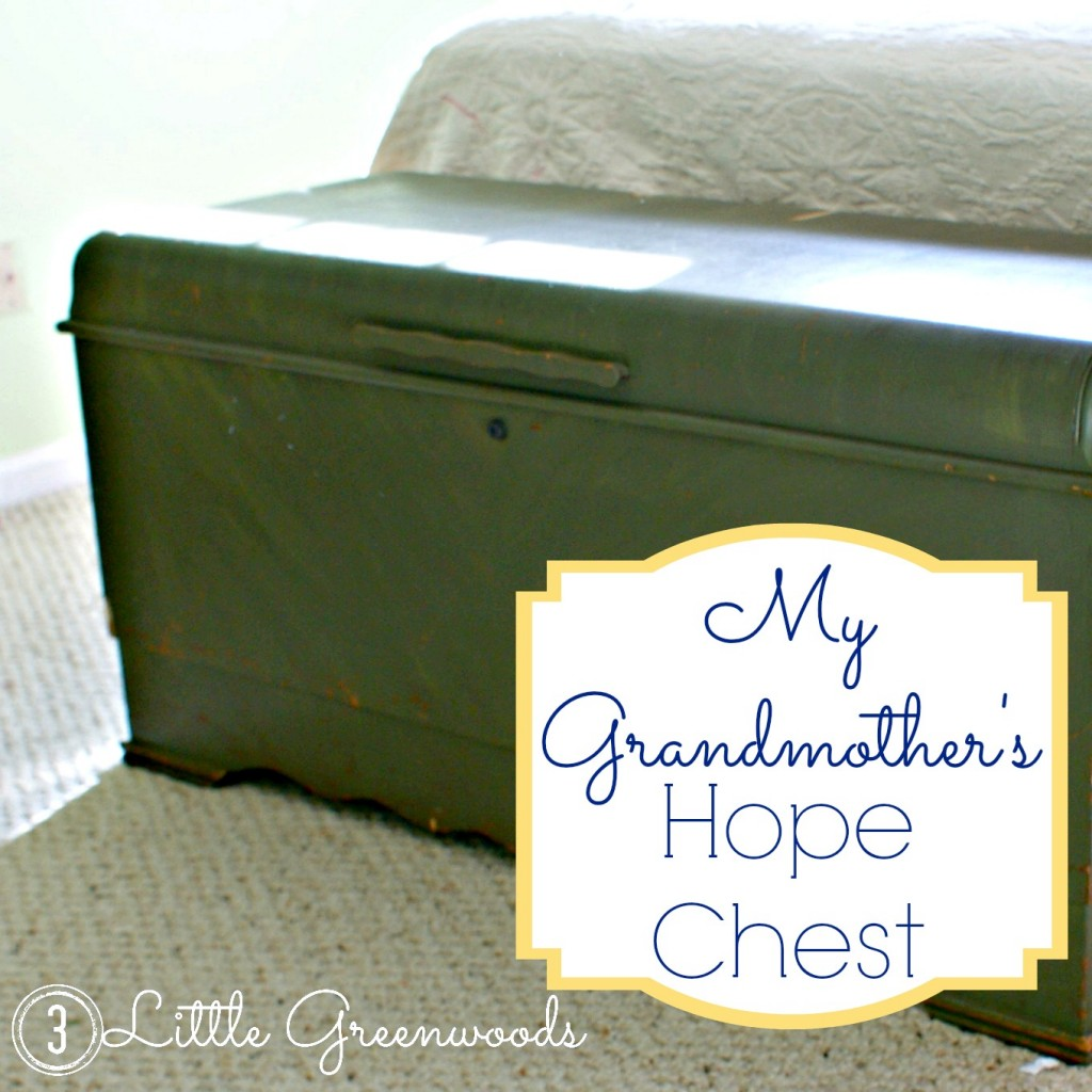 The Big Green Elephant ~ My Grandmother's Hope Chest by 3 Little Greenwoods {3littlegreenwoods.com}