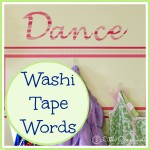 Playful Words Made Washi Tape ~ A Tutorial