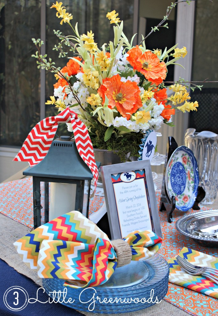 Race Day Tablescape by 3 Little Greenwoods {3littlegreenwoods.com}