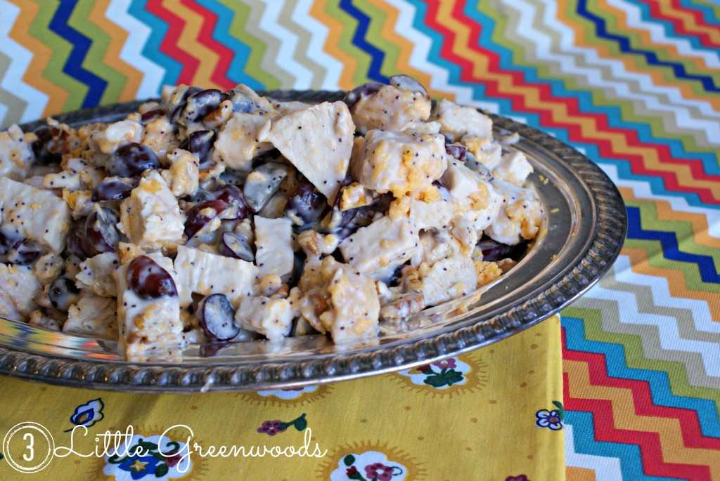 Sweet & Tangy Chicken Salad Recipe by 3 Little Greenwoods {3littlegreenwoods.com}