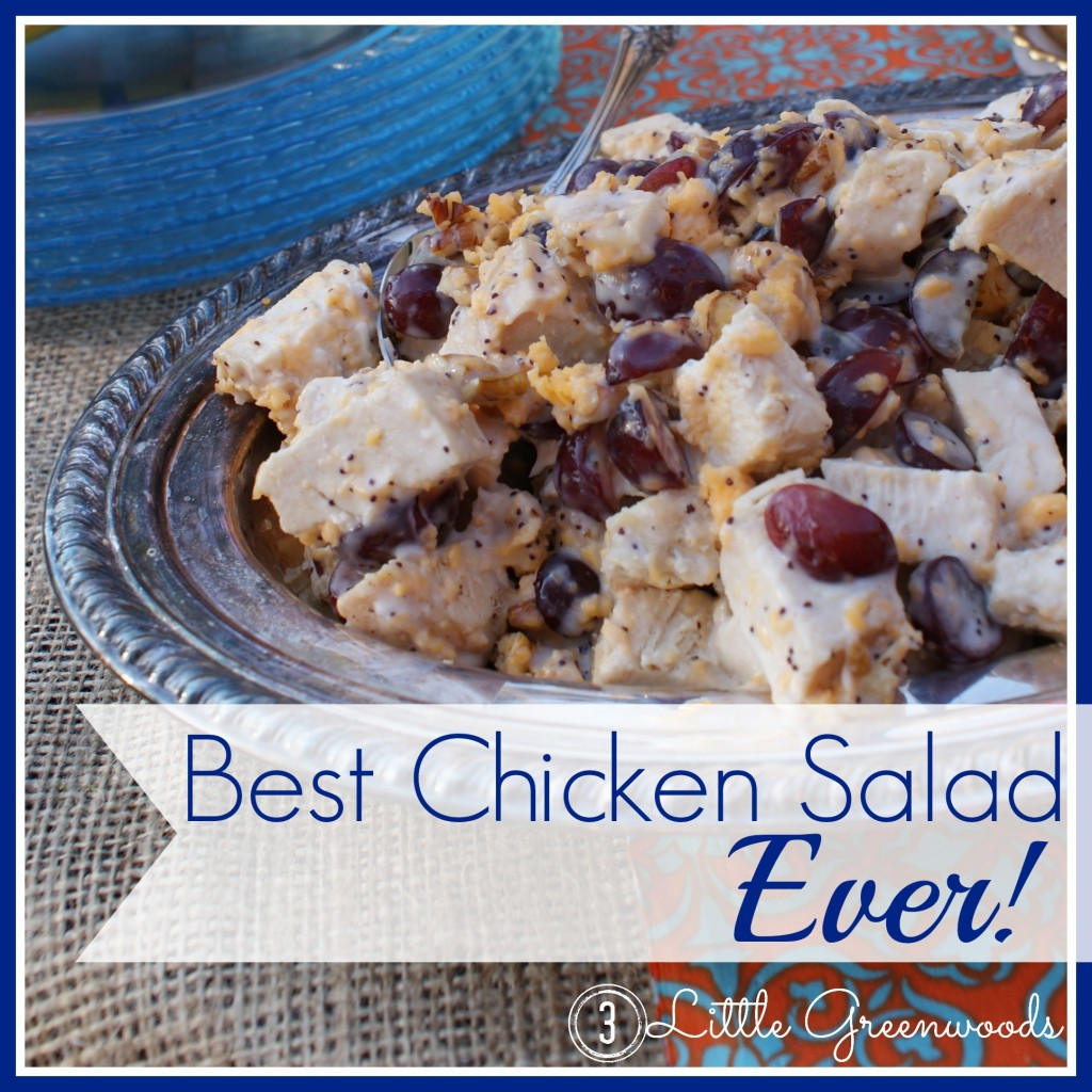 Best Chicken Salad Recipe ~ Ever! by 3 Little Greenwoods {3littlegreenwoods.com}