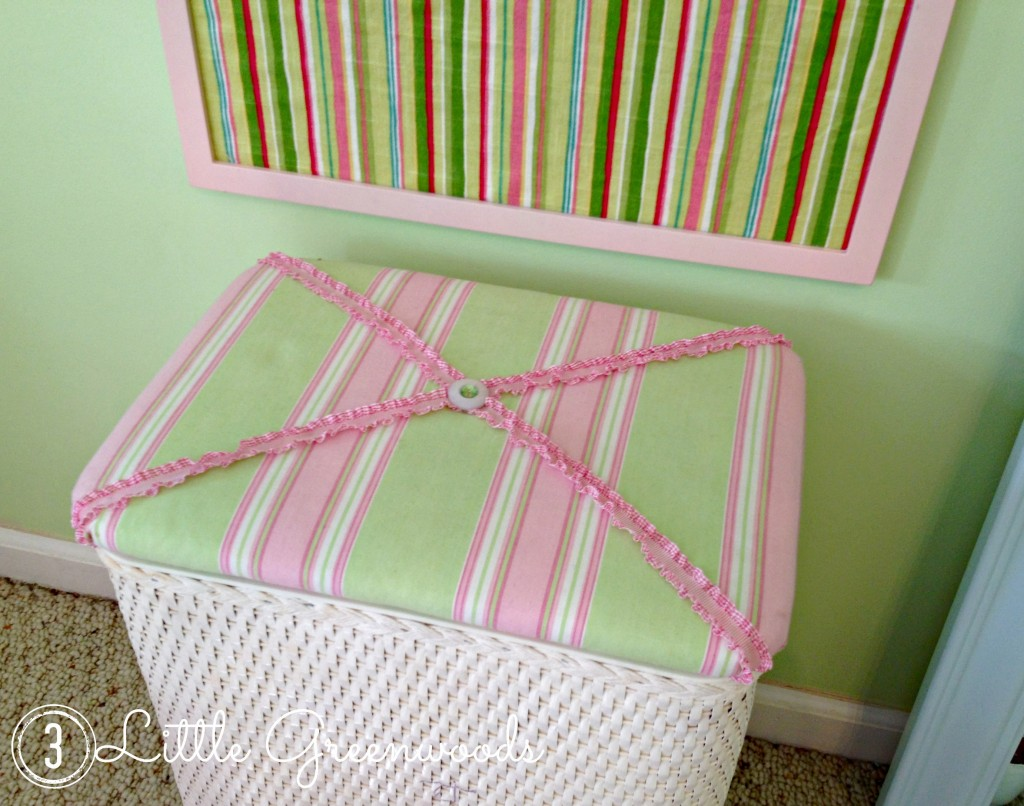 upcycled nursery hamper