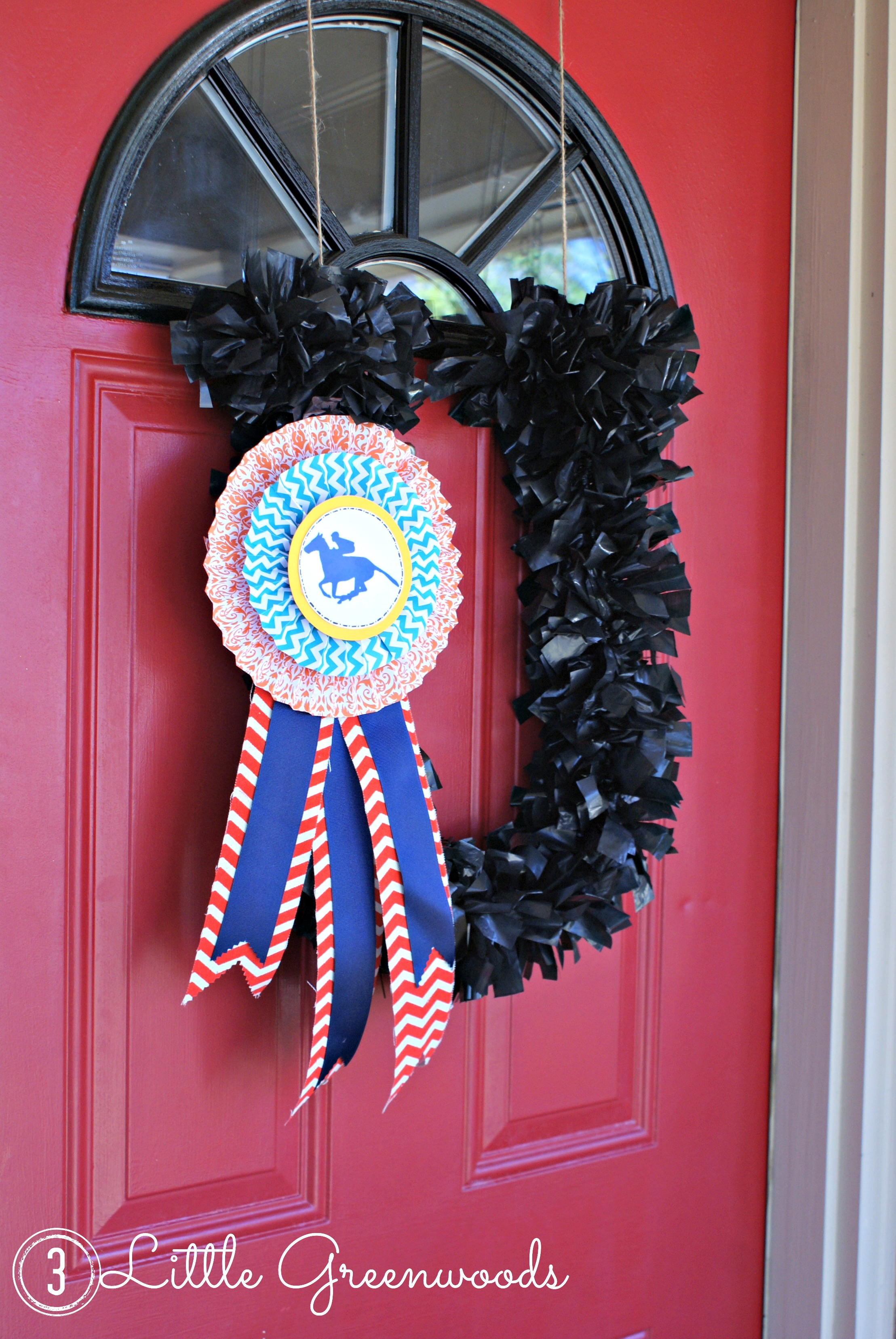 Race Day Wreath For Steeplechase Races 3 Little Greenwoods