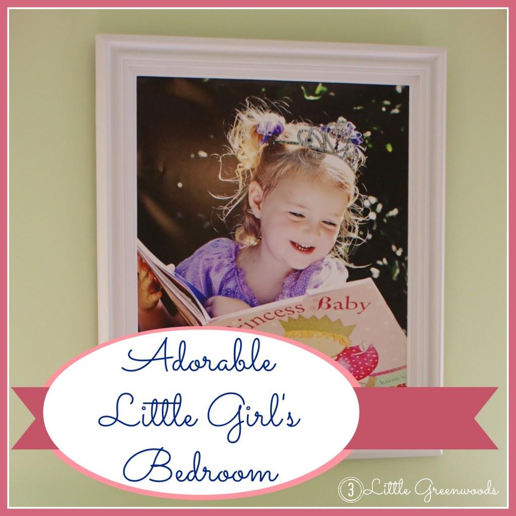 Adorable Little Girl's Bedroom Makeover by 3 Little Greenwoods {3littlegreenwoods}