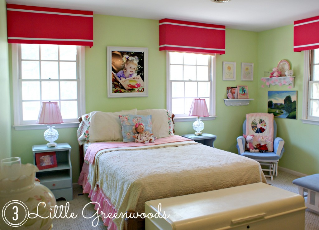 Adorable Little Girls Bedroom by 3 Little Greenwoods