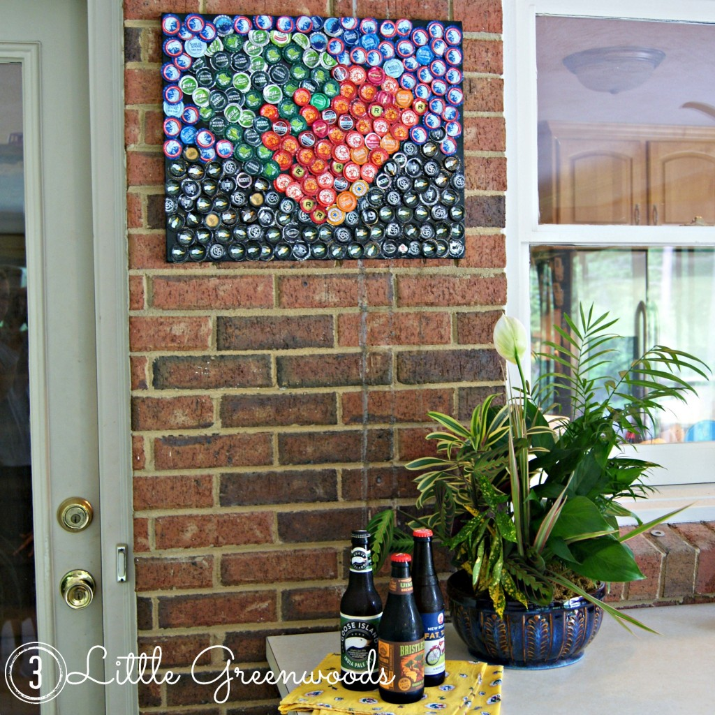 Bottle Cap Artwork ~ A Perfect Father's Day Gift by 3 Little Greenwoods