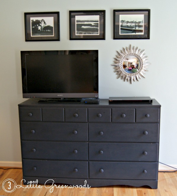 black dresser tv console