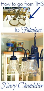 How to Upcycle a Chandelier with Spray Paint
