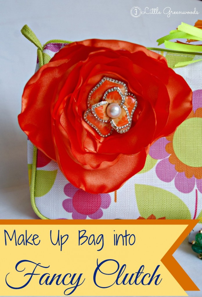Make Up Bag to Fancy Clutch by 3 Little Greenwoods