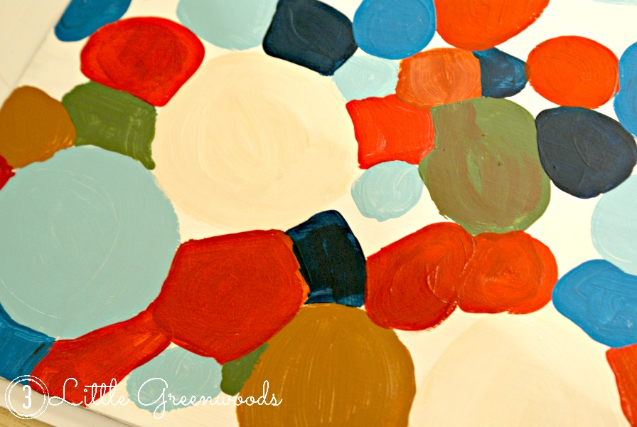 DIY Abstract Circle Art by 3 Little Greenwoods