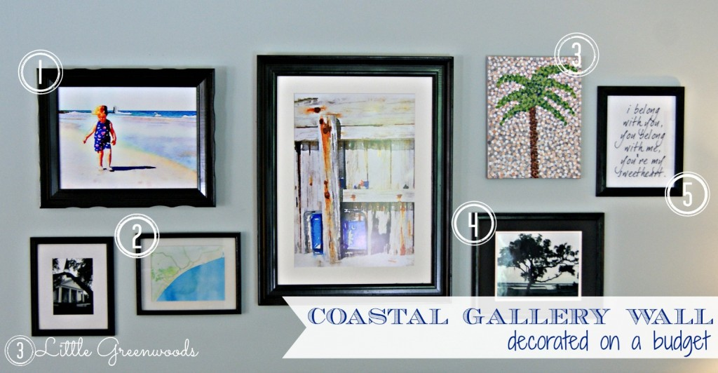 Coastal Gallery Wall on a Budget by 3 Little Gree
