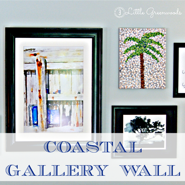 Coastal Gallery Wall on a Budget by 3 Little Greenwoods