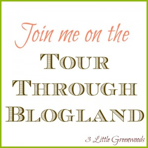Tour Through Blogland With 3 Little Greenwoods 3 Little