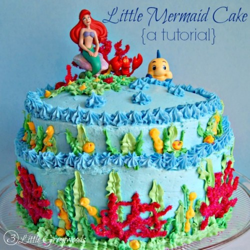 A Mermaid Birthday Cake {a tutorial} by 3 Little Greenwoods